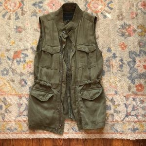 Sanctuary olive utility vest small